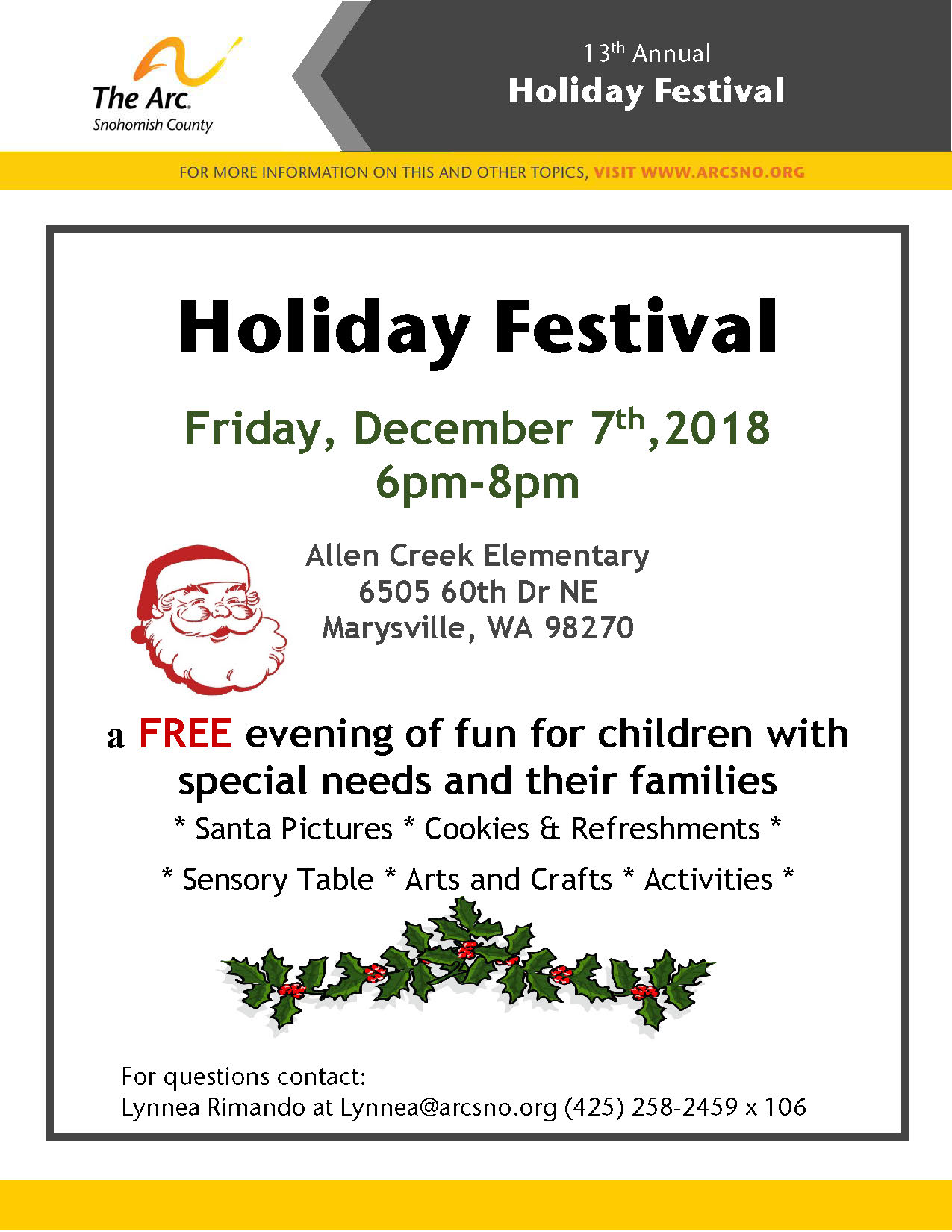 Holiday Festival 2018 flyer 1