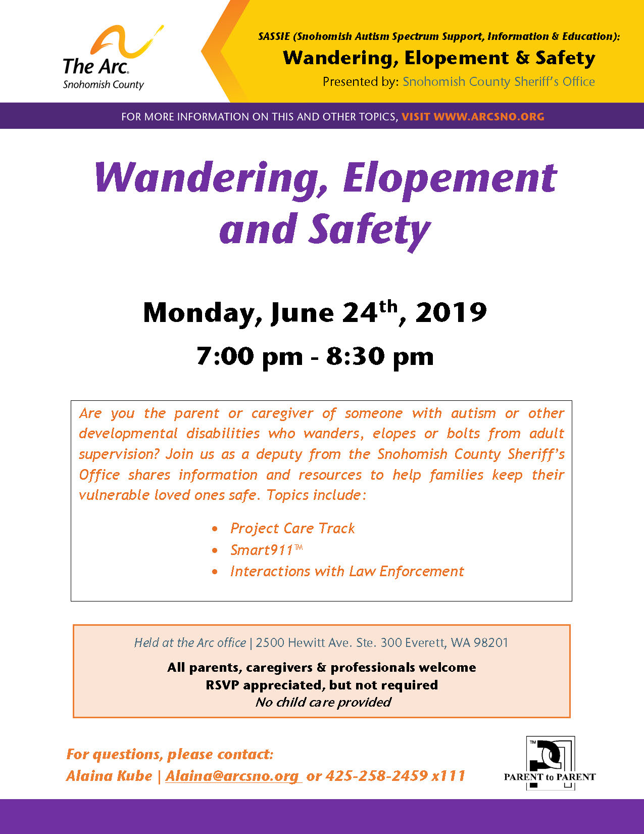 SASSIE June2019 Wandering Elopement and Safety