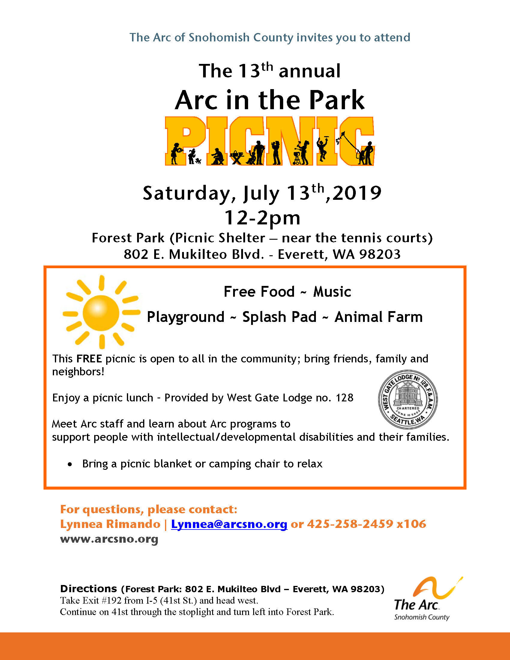 Arc in the Park Flyer July2019