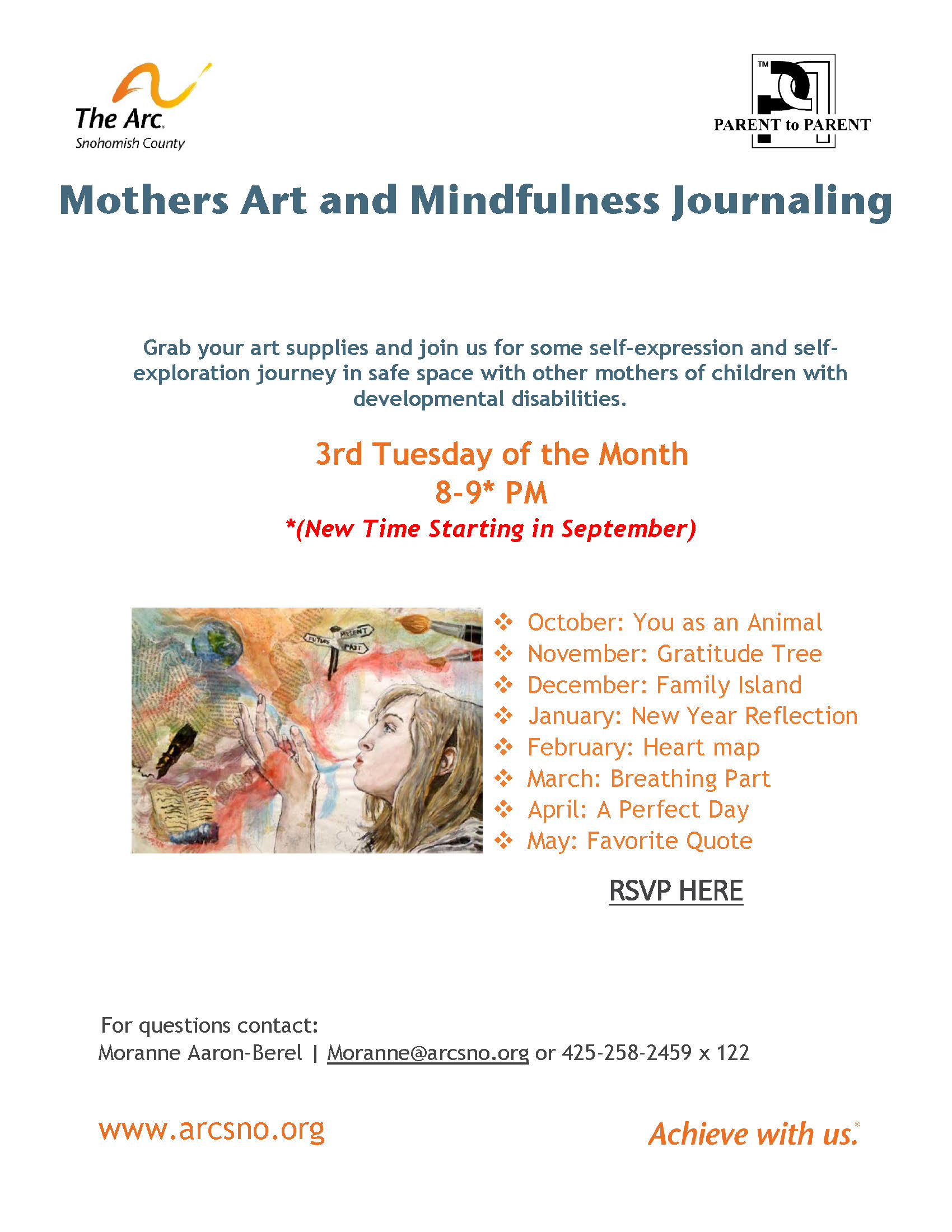 Mothers Art and Mindfulness Journaling September