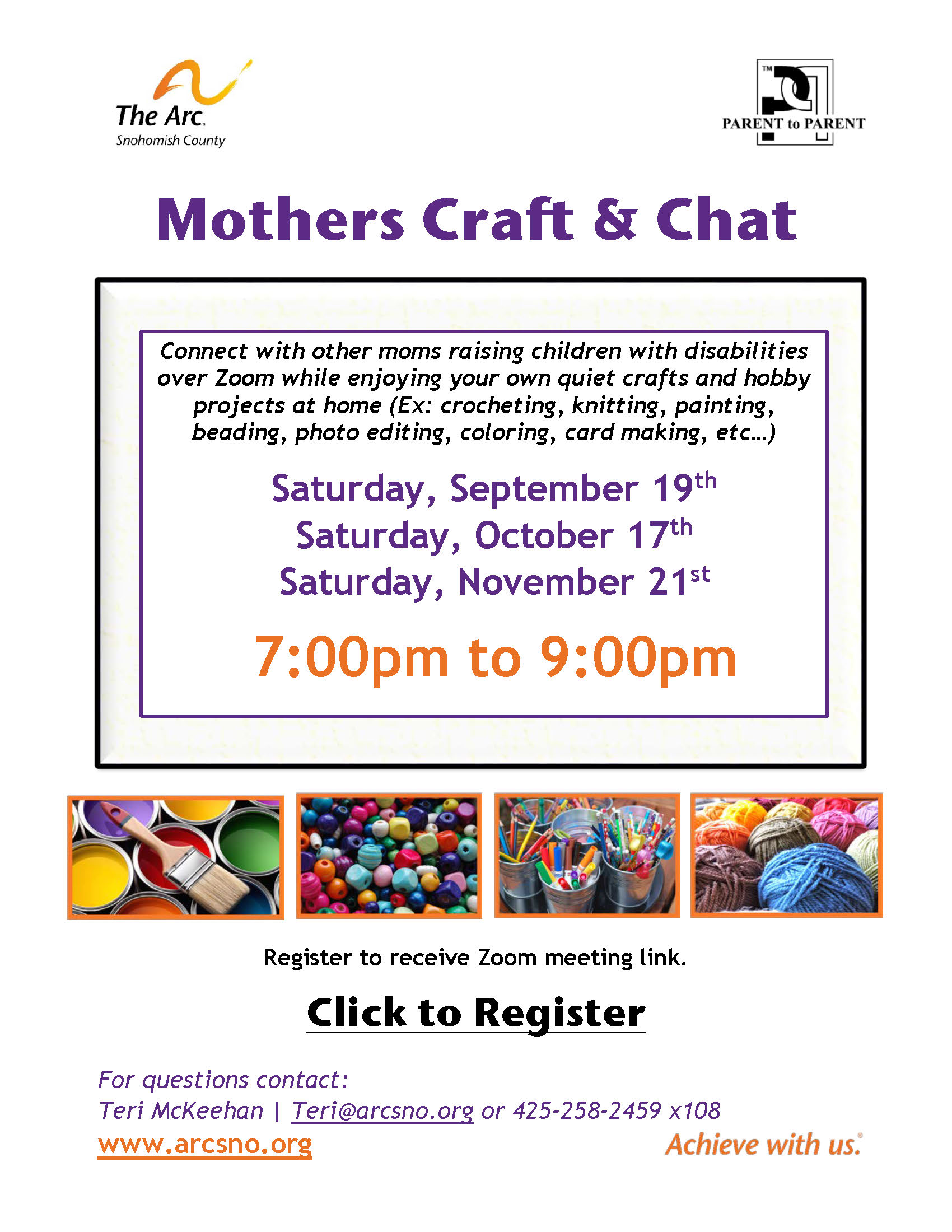 Mothers Craft and Chat Fall 2020