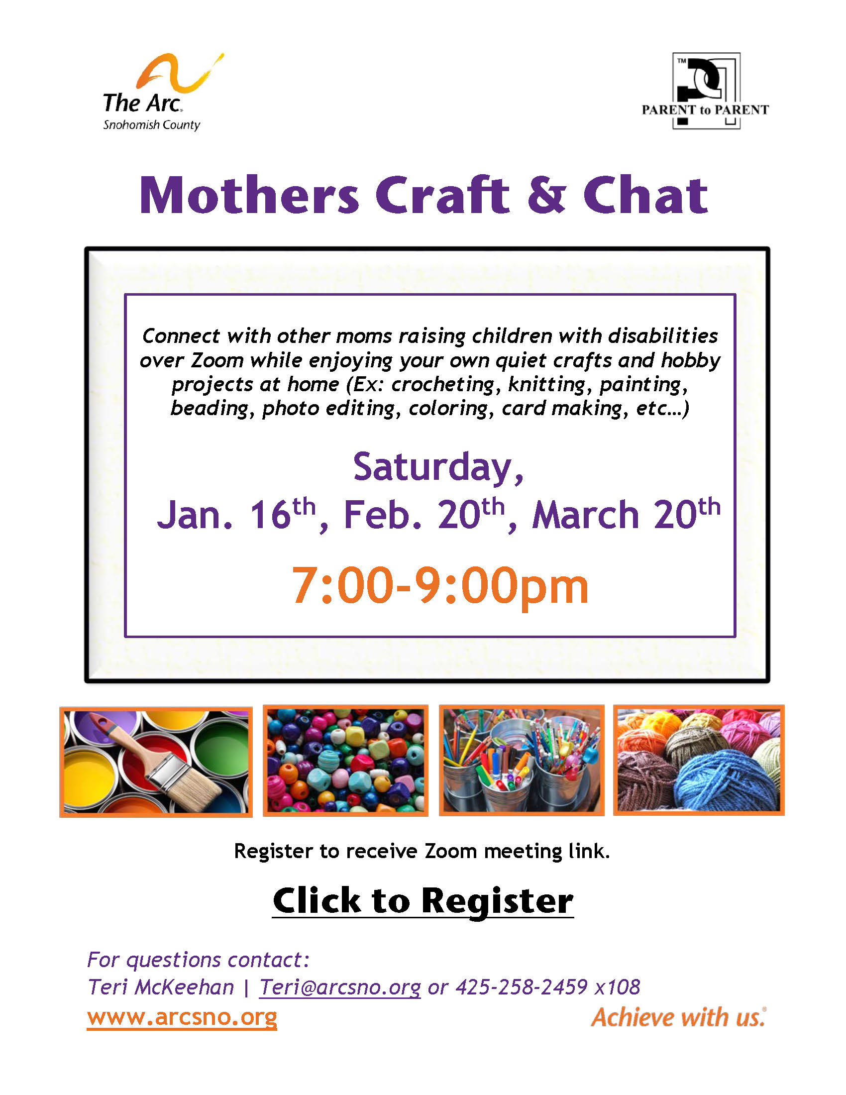 Flier Mothers Craft and Chat 2021