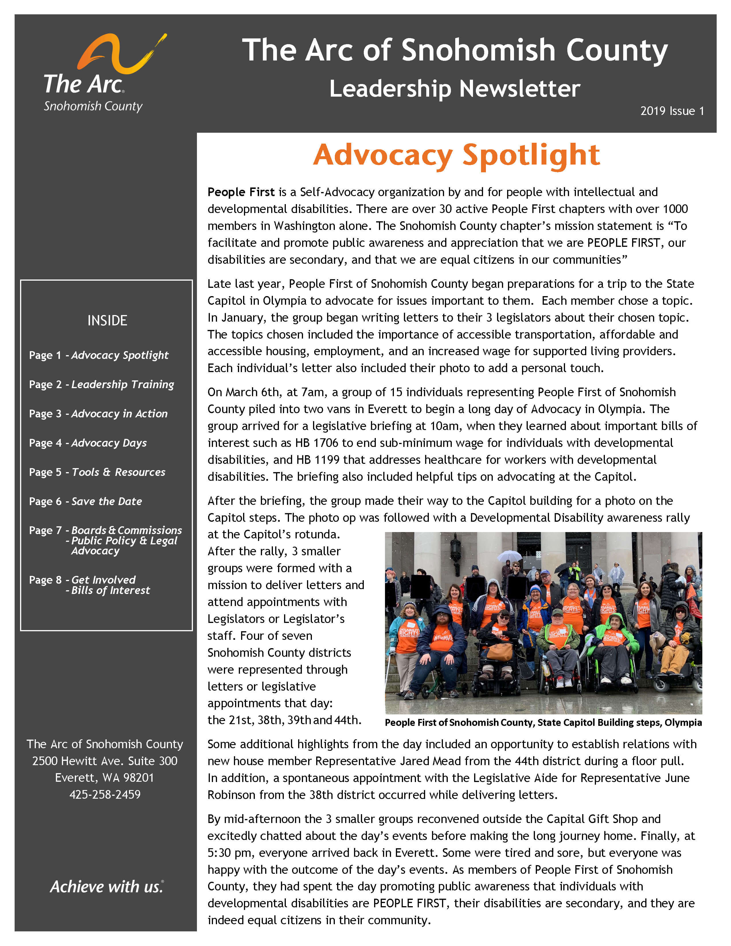 LeadershipNewsletter2019 Issue 1 Page 1